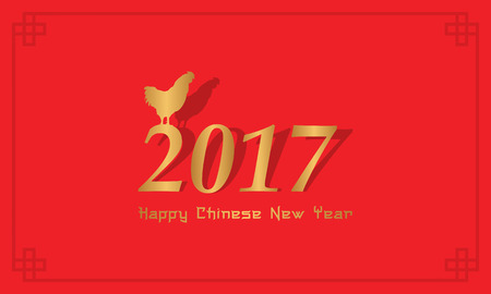 Collection of Chinese New Year greeting card vector art