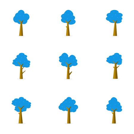 flat: Illustration of tree vector flat stock Illustration