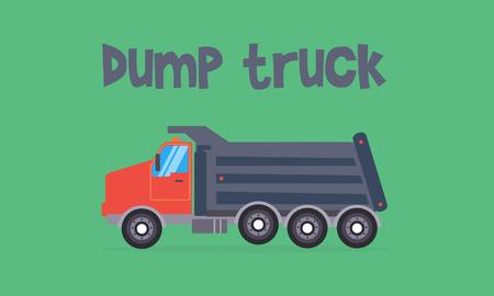 dump truck: Dump truck of vector flat