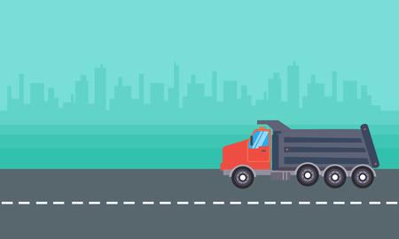 dump truck: Landscape of dump truck vector collection stock