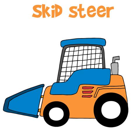Skid steer cartoon vector art collection stock