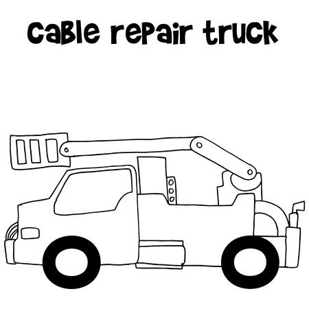hand truck: Cable repair truck with hand draw