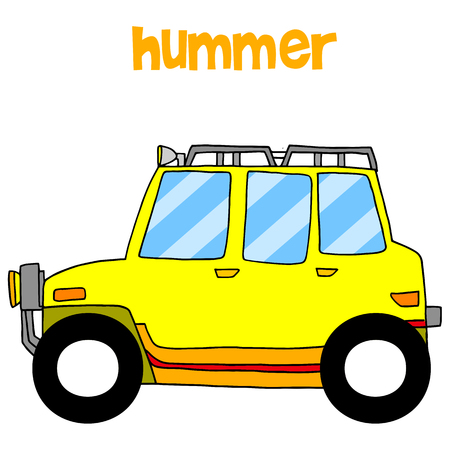 Transportation of yellow hummer