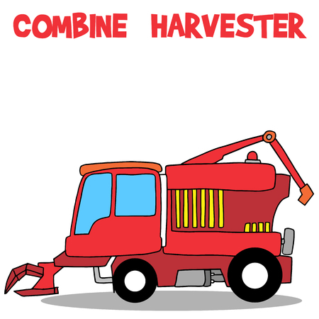 harvester: Combine harvester of transportation collection