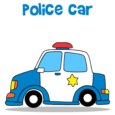 Collection stock of police car