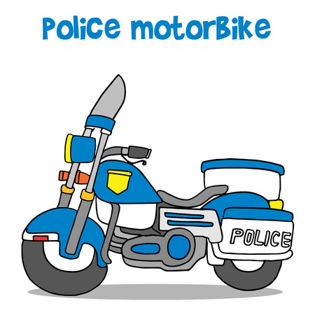 Vector illustration of police motor Illustration