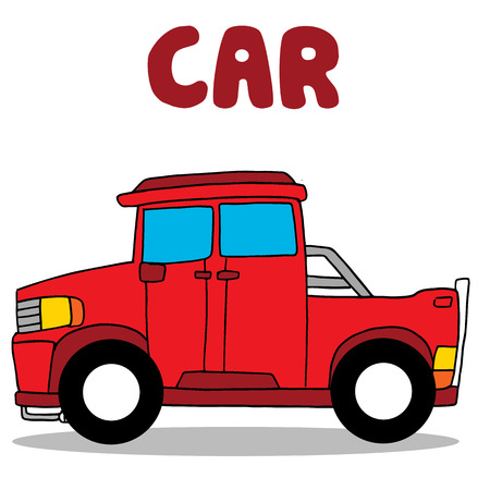 transference: Transportation of red car collection