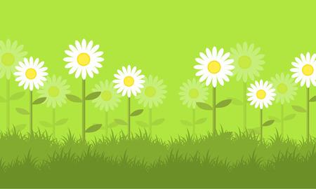 Flor en la primavera de vectores de fondo