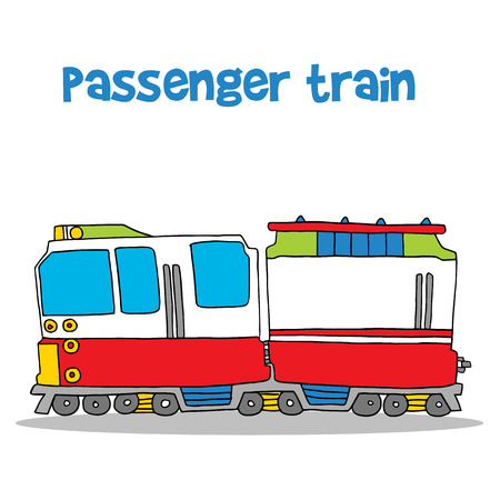 high speed train: Passenger train of vector art Illustration