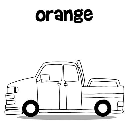 Hand draw of car vector art Ilustração