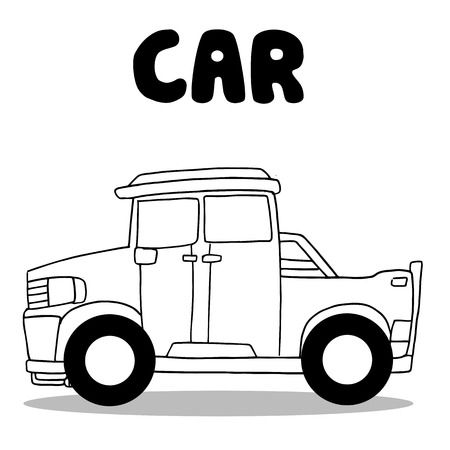 transference: Collection of car wirth hand draw