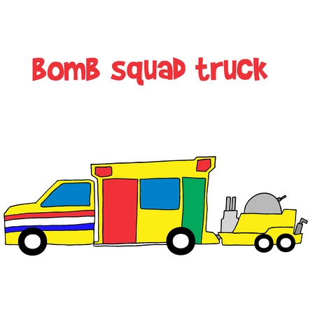 disarm: Bomb squad truck collection stock