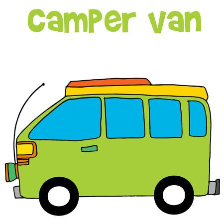 Camper van of vector illustration