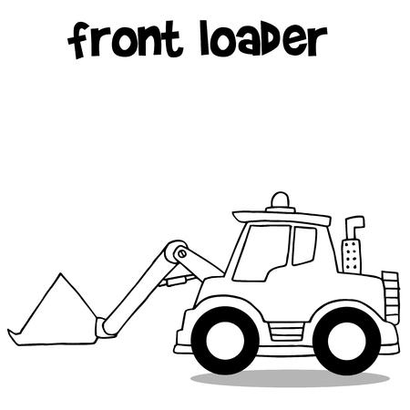 cargador frontal: Por llamar la ilustración vectorial frente a la colección del cargador