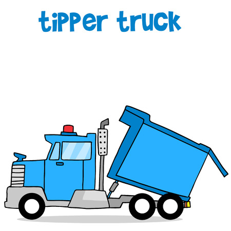 Illustration of tipper truck transportation collection stock