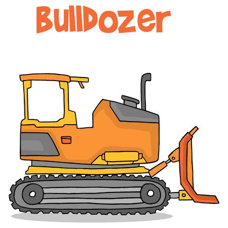 Cartoon bulldozer transportation collection stock