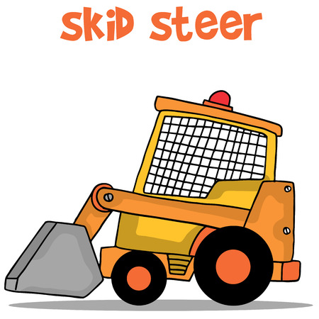 skid steer: Transportation of skid steer vector collection stock