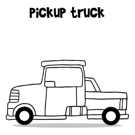 Collection of pickup truck transportation vector illustration