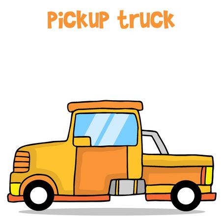 Cartoon pickup truck vector art
