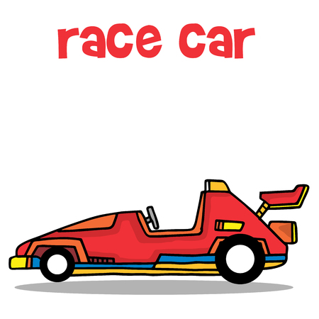 exclusive collection: Transport of race car collection vector illustration