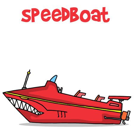 Collectie stock van de speedboot vervoer vector kunst