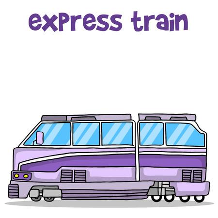 treno espresso: Trasporto di treno espresso raccolta illustrazione vettoriale Vettoriali