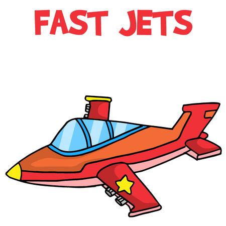 jets: Transport of fast jets cartoon vector art