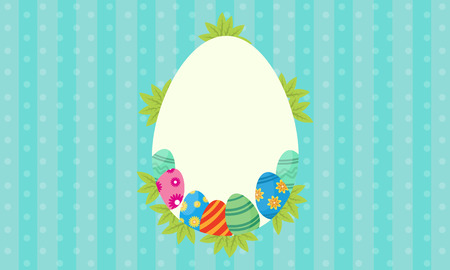 arbol de pascua: Vector art of easter egg frame