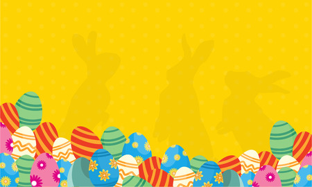Collection of bunny and egg easter backgrounds