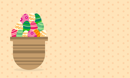 greeting card background: Greeting card easter theme on brown background