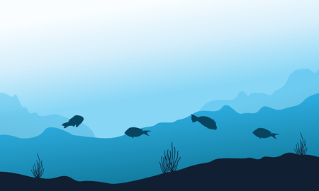 fishes: Underwater Background with Fishes vector