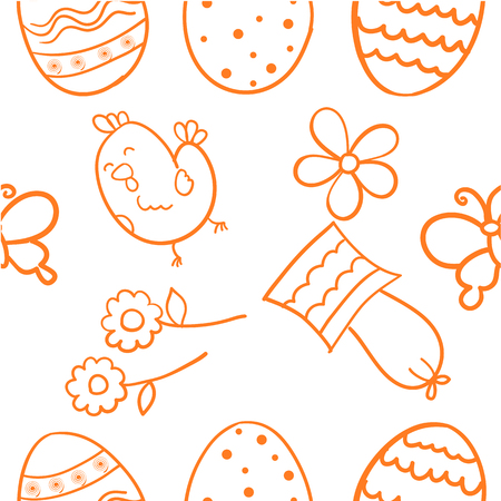 Doodle of easter design
