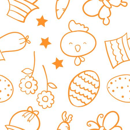 Doodle of easter egg element