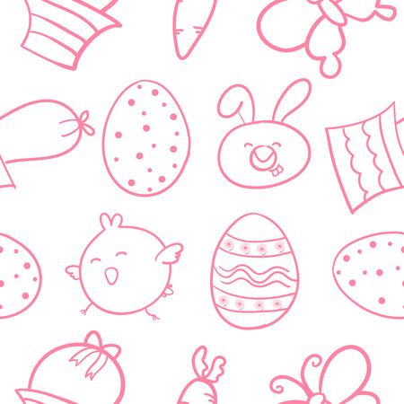 Doodle of easter egg object cartoon Illustration