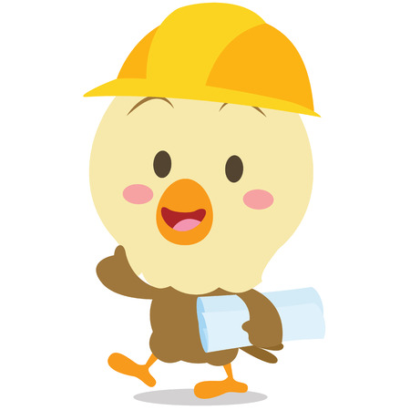 Architect eagle character vector art collection stock Illustration