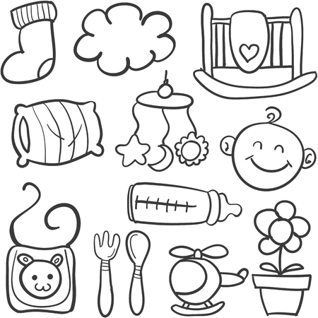 baby: Doodle of toy for baby Illustration