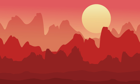 coarse: Silhouette of cliff at morning scenery