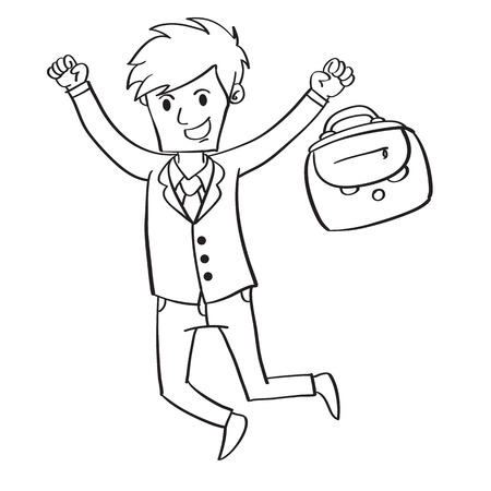 Collection stock of businessman character Illustration