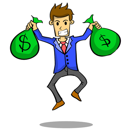 Businessman with money style design