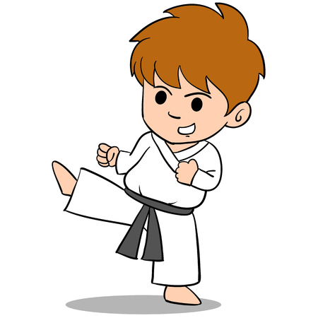 Character of kid sport vector art Illustration