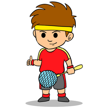 Cartoon kid sport character collection