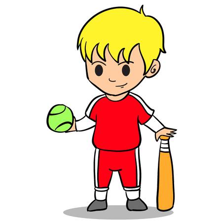 Happy kid character style character