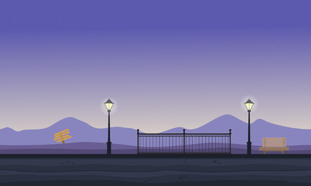 Collection of hill scenery vector flat