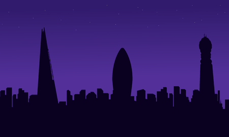 bigben: London city building scenery silhouettes