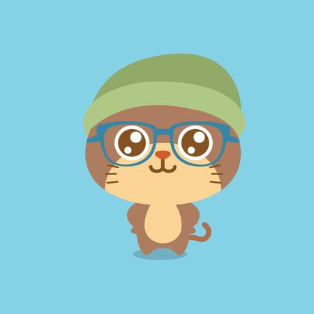 felidae: Cute cat character cartoon design