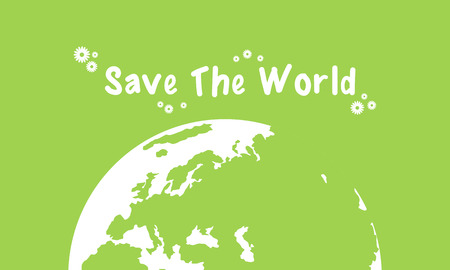 globe logo: Earth day green background collection