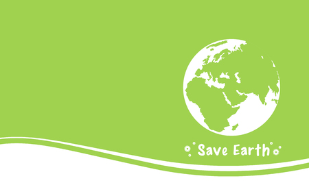 globe logo: Collection Happy Earth Day green background