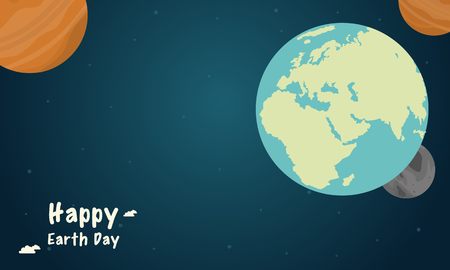 globe logo: Space with world style earth day