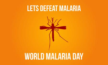 Mosquito background malaria day style vector illustration. Illustration