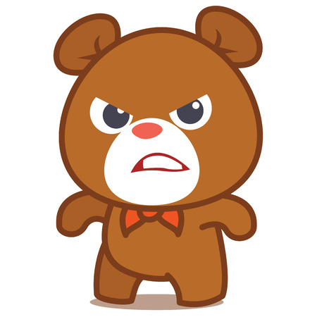 Angry bear character vector art collection stock